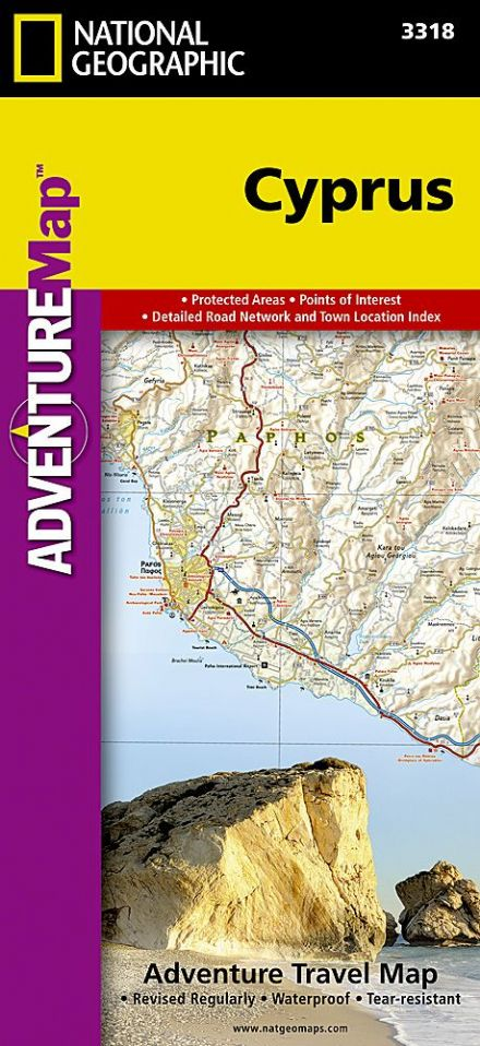Cyprus - National Geographic Adventure Map